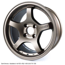 Rays Gramlights - 57CR Wheels - 15x8 +28mm 4x100 - Bronze - Set of 4 Wheels