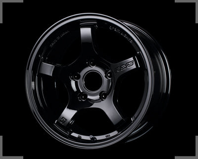 Rays Gramlights - 57CR Wheels - 15x8 +28mm 5x114.3 - Glossy Black - Set of 4 Wheels