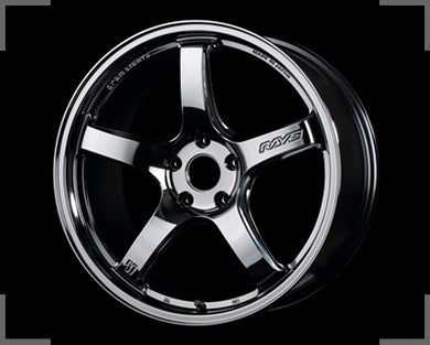 Rays Gramlights - 57CR Wheels - 18x10.5 +12mm 5x114.3 - Black Chrome - Each Wheel