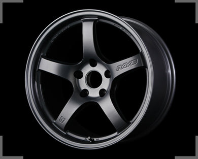 Rays Gramlights - 57CR Wheels - 18x8.5 +50mm 5x114.3 - Gun Blue 2 - Each Wheel
