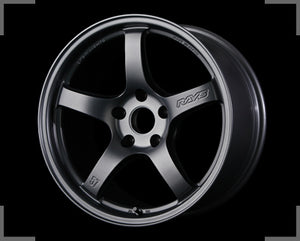 Rays Gramlights - 57CR Wheels - 18x8.5 +37mm 5x114.3 - Gun Blue 2 - Each Wheel