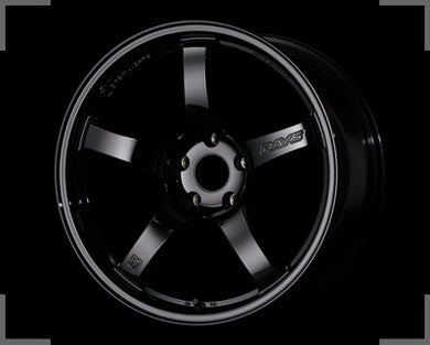 Rays Gramlights - 57CR Wheels - 18x8.5 +37mm 5x114.3 - Glossy Black - Each Wheel