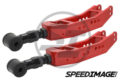 Blox Racing - Rear Lower Control Arms LCA - Subaru BRZ 2013-2018 / Subaru WRX STI 2008-2018 / Scion FR-S 86 2013-2018 - Red