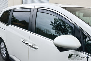 EOS - In Channel Side Window Visor Deflectors - Honda Odyssey 2011-2017