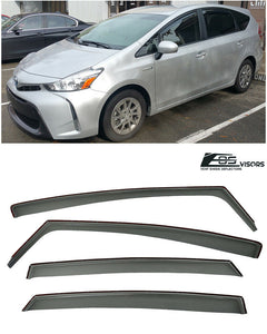 EOS - In Channel Side Window Visor Deflectors - Toyota Prius V 2011-2018