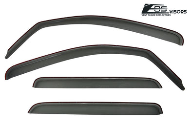 EOS - In Channel Side Window Visor Deflectors - Toyota Tundra Crew Cab 2007-2019