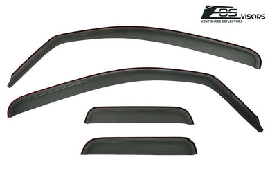 EOS - In Channel Side Window Visor Deflectors - Toyota Tundra Double Cab 2007-2019
