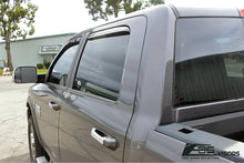 EOS - In Channel Side Window Visor Deflectors - Dodge Ram 1500 2500 3500 Crew Cab 2009-2018