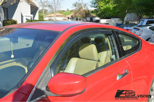EOS - In Channel Side Window Visor Deflectors - Honda Accord 2008-2012 Coupe 2 Door
