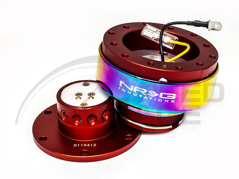 NRG - Quick Release - Gen 2.0 - Red Body / Neo Chrome Ring