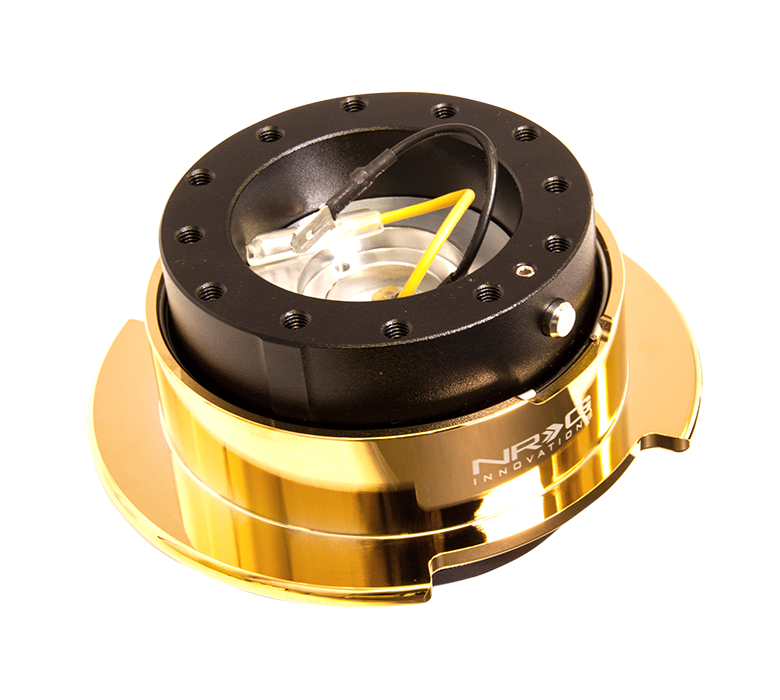 NRG - Quick Release - Gen 2.5 - Black Body / Gold Ring