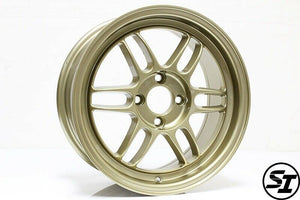 356 Wheels - TFS301 15x7 +35 4x100 67.1 Hub - Set of 4 Wheels - Gold