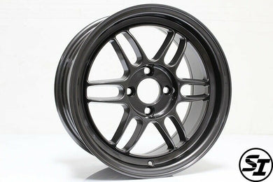 356 Wheels - TFS301 15x7 +35 4x100 67.1 Hub - Set of 4 Wheels - Gunmetal