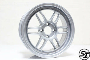 356 Wheels - TFS301 15x7 +35 4x100 67.1 Hub - Set of 4 Wheels - Silver
