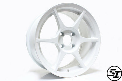 356 Wheels - TFS401 15x7 +35 4x100 67.1 Hub - Set of 4 Wheels - White