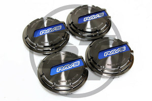 Rays Gramlights - GL Center Caps - For 57DR / 57CR - Black / Blue - Set of 4