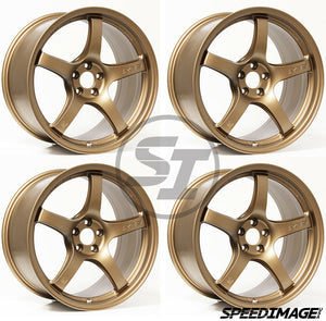 Rays Gramlights - 57CR Wheels - 17x9 +22mm 5x114.3 - Bronze - Set of 4 Wheels