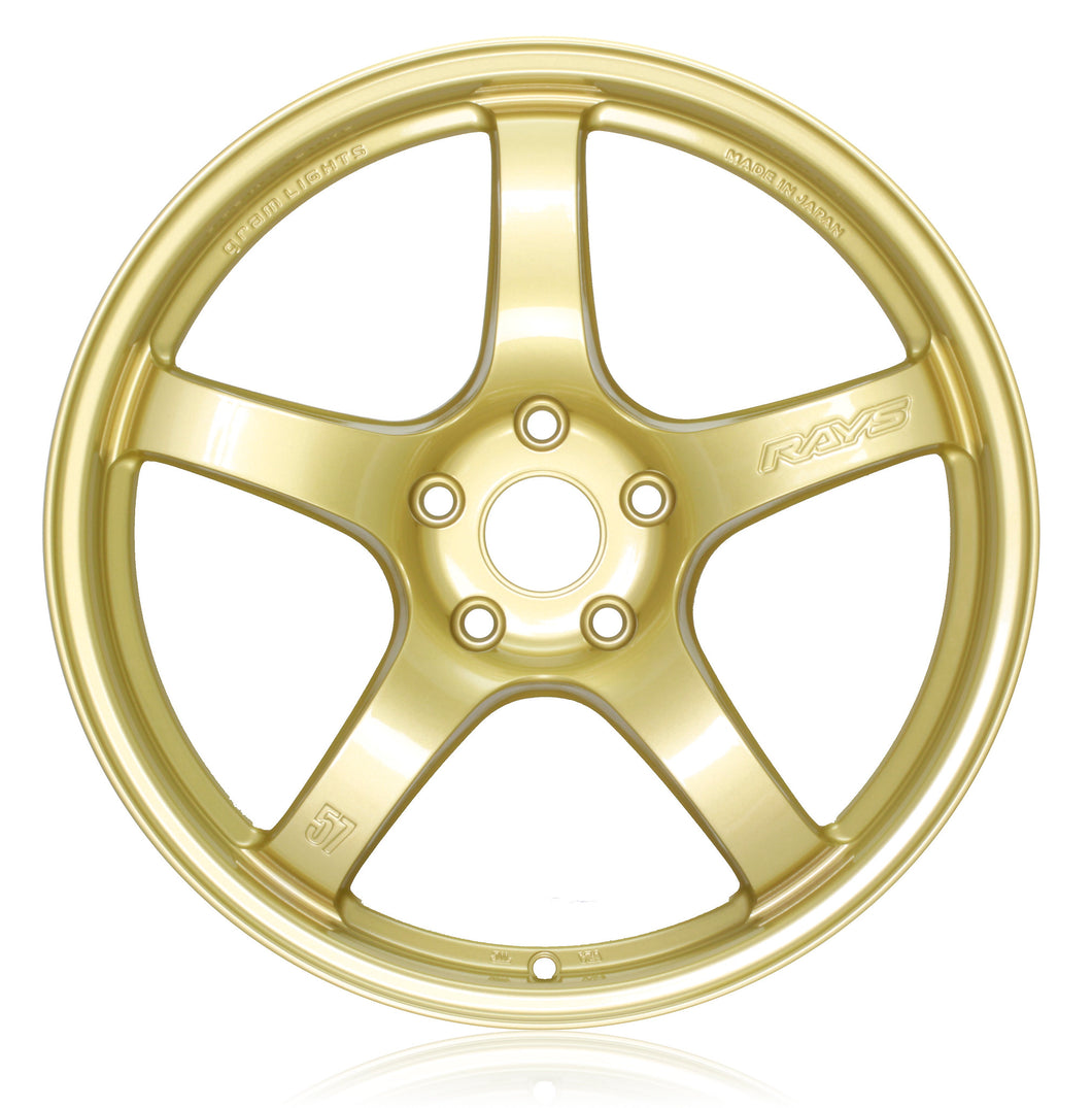 Rays Gramlights - 57CR Wheels - 17x9 +38mm 5x100 - E8 Gold - Set of 4 Wheels