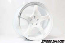 Rays Gramlights - 57CR Wheels - 17x9 +38mm 5x100 - Ceramic Pearl White - Set of 4 Wheels