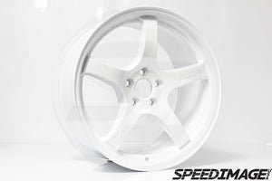 Rays Gramlights - 57CR Wheels - 18x9.5 +38mm 5x120 - Ceramic Pearl White - Each Wheel