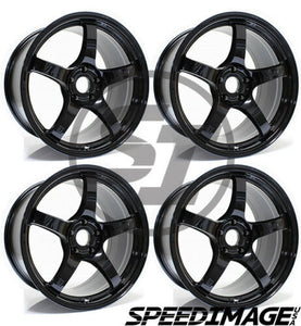 Rays Gramlights - 57CR Wheels - 17x9 +12mm 5x114.3 - Glossy Black - Set of 4 Wheels