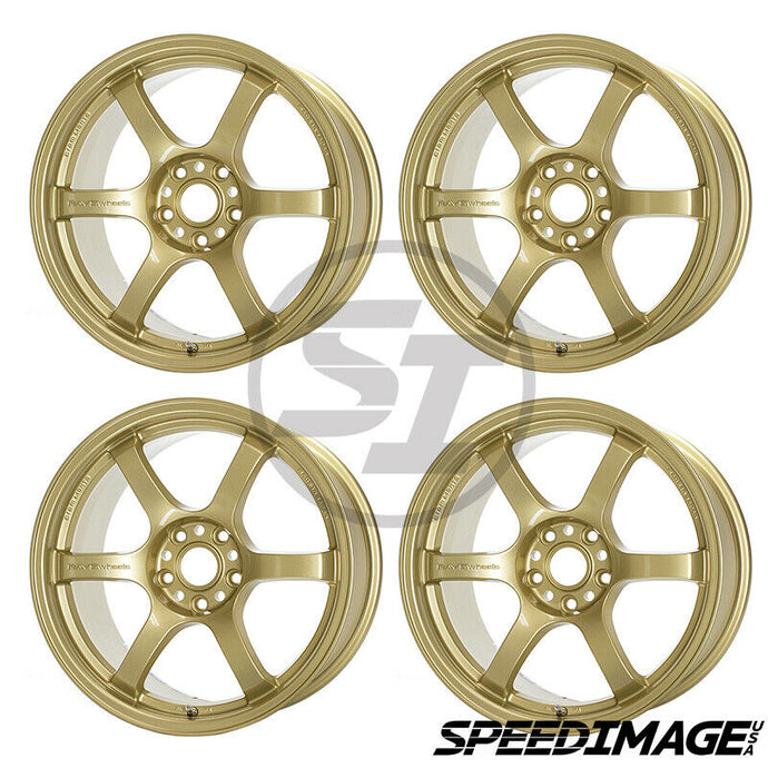 Rays Gramlights - 57DR Wheels - 18x9.5 +38mm 5x114.3 - E8 Gold - Each Wheel