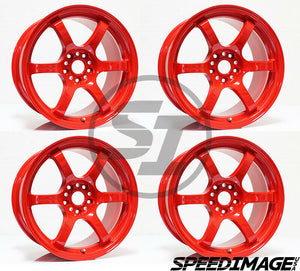 Rays Gramlights - 57DR Wheels - 18x9.5 +38mm 5x120 - Milano Red - Each Wheel