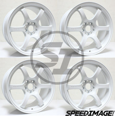 Rays Gramlights - 57DR Wheels - 18x9.5 +38mm 5x120 - Ceramic Pearl White - Each Wheel