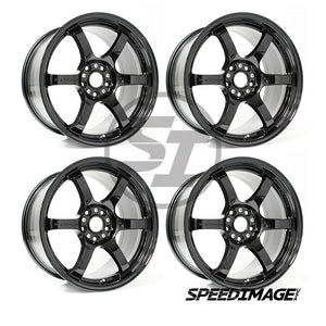 Rays Gramlights - 57DR Wheels - 18x9.5 +38mm 5x120 - Glossy Black - Each Wheel
