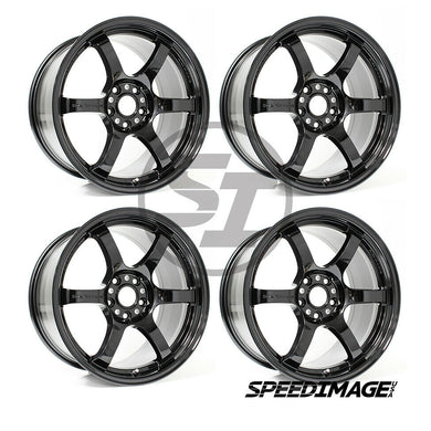 Rays Gramlights - 57DR Wheels - 18x9.5 +38mm 5x114.3 - Glossy Black - Each Wheel