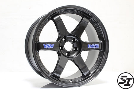 Volk Racing - TE37 OG Wheels - 18x9.5 +22mm 5x100 - Diamond Black - Set of 4 Wheels