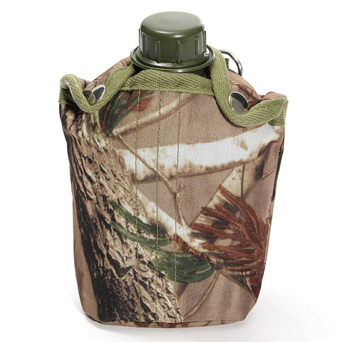 1L Outdoor Military Water Bottle and Camouflage Bag