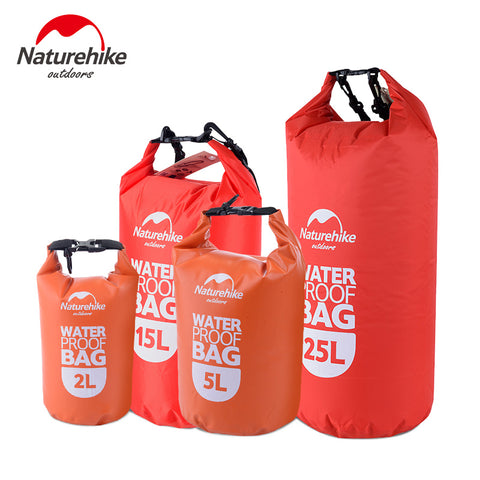 Naturehike Ultralight Swimming Bag Dry 4 Colors Outdoor Nylon Kayaking Storage Drifting Waterproof Rafting Bag 2L 5L 15L 25L