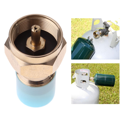 Outdoor propane tank refill adapter