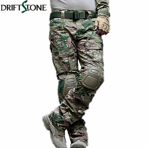 Camouflage Military Tactical Pants with Knee Pads