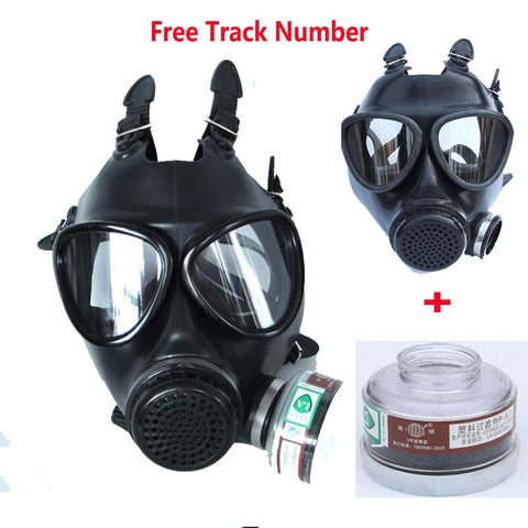 Army Chemical Gas Mask With Silicone Respirator