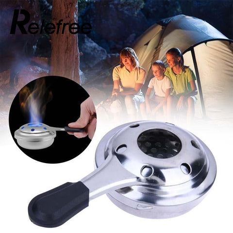 outdoor mini stainless steel windproof alcohol stove