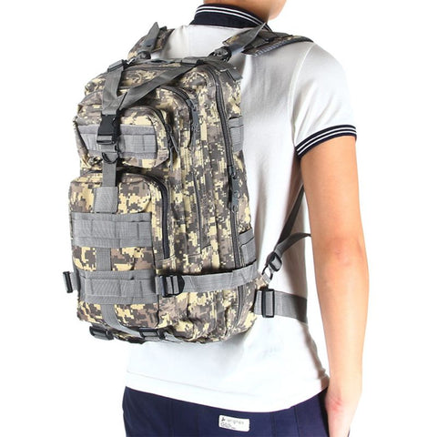 Outdoor Bags Waterproof Tactical Combat Rucksack Backpack Bag Camping Hiking Mil-Tec Military Army Patrol MOLLE Assault Pack