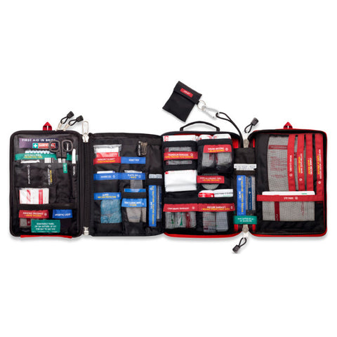 Survival first aid kit. Medical Bag. 4 sections