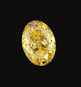 VS1 oval cut loose diamond yellow canary 1.75 carat new