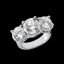 Load image into Gallery viewer, White Gold genuine DIAMOND women engagement ring new 4 carat