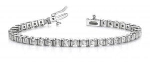 Women sparkling 7.5 ct round cut diamonds tennis bracelet white gold