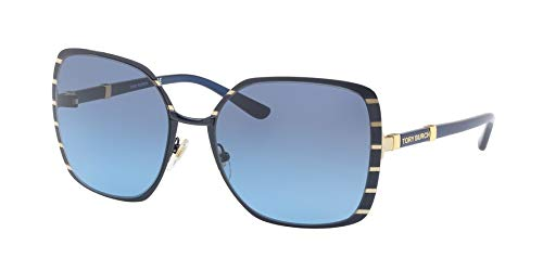 Tory Burch Women's 0TY6055 57mm Midnight Navy/Gold/Blue Gradient One Size