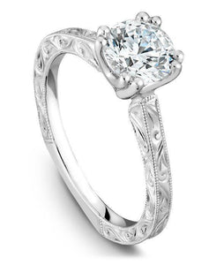 Sparkling round cut 1.00 carat diamond Engagement ring 14k gold