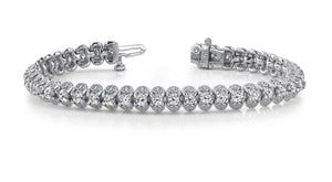 Women diamond tennis bracelet round cut 5.50 carats white gold 14k