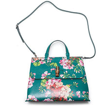 Load image into Gallery viewer, Gucci Teal Green Shanghai Blooms Top Handle Flower Bag Handbag Authentic Italy New