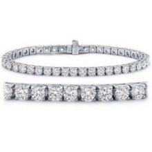 Load image into Gallery viewer, Houston Diamond District 7 Carat Classic Tennis Bracelet 14K White Gold Value Collection