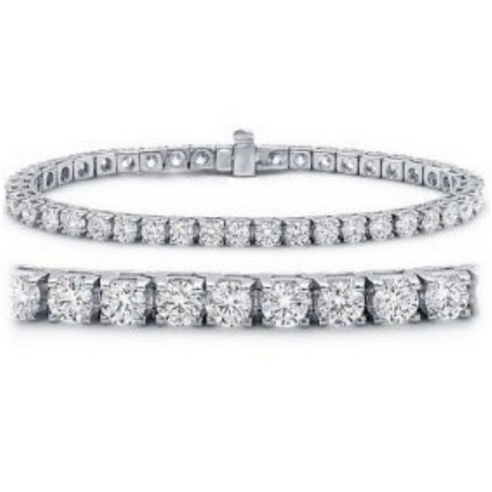 Houston Diamond District 7 Carat Classic Tennis Bracelet 14K White Gold Value Collection