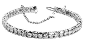 White gold tennis Bracelet 9 ct. diamond tennis bracelet channel set