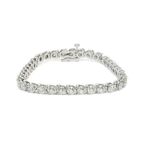 White gold jewelry round diamond bracelet sparkling 2 Carats